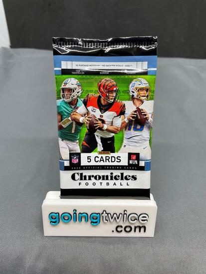 Factory Sealed 2020 CHRONICLES Football 5 Card Pack - Herbert Black Prizm RC?