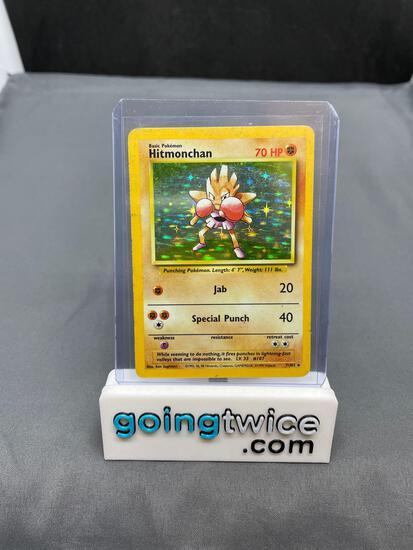 1999 Pokemon Base Set Unlimited #7 HITMONCHAN Holofoil Rare Trading Card
