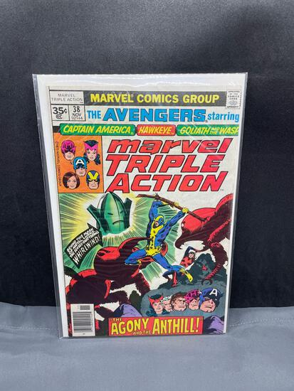 Vintage Marvel Comics MARVEL TRIPLE ACTION #38 Bronze Age Comic Book from Estate Collection