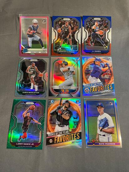 9 Card Lot of Prizms & Refractors With Rookies & Stars!