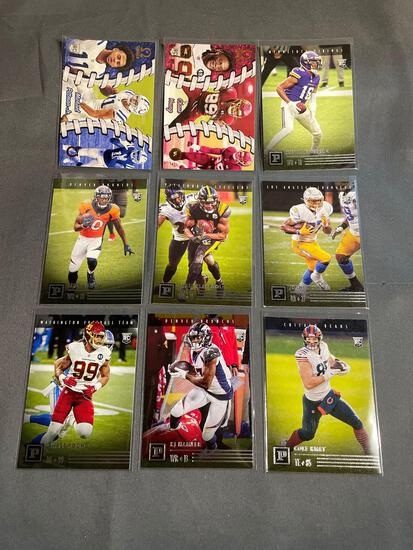 9 Card Lot of Football Rookie Cards - Mostly Newer Sets - HOT!