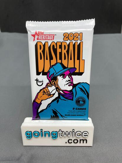 Factory Sealed 2021 Topps Heritage Baseball Cards 9 per Pack