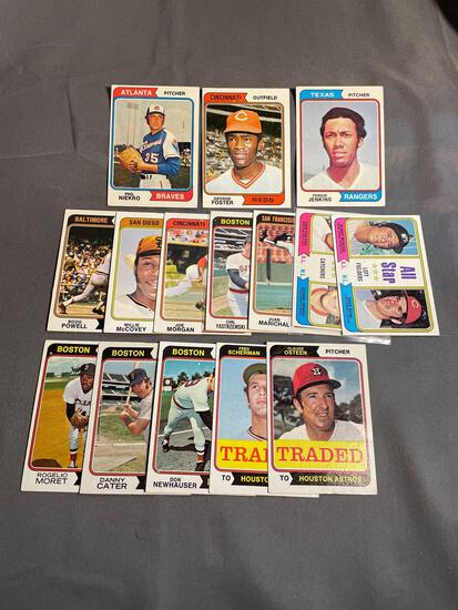 15 Count Lot Vintage 1974 Topps Baseball Cards from Estate