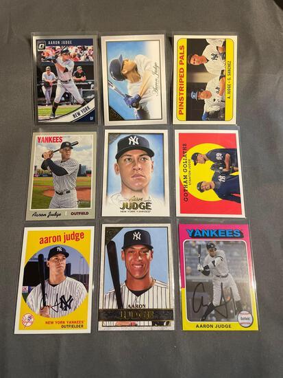 9 Card Lot Aaron Judge New York Yankees Baseball Cards