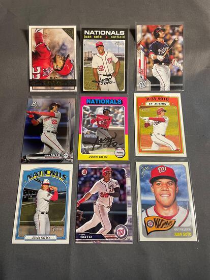 9 Card Lot Juan Soto Washington Nationals Baseball Cards