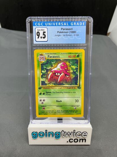 CGC Graded 1999 POKEMON Jungle Set 1ST EDITION PARASECT - Gem Mint 9.5