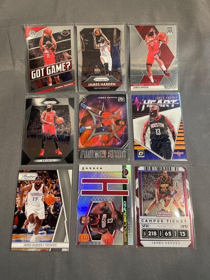 9 Card Lot James Harden Basketball Cards