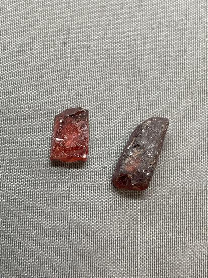 Lot of Rough Red Garnet Gemstones - Africa