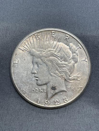 1923-S United States Silver Peace Dollar Coin - 90% Silver Coin from Estate Collection