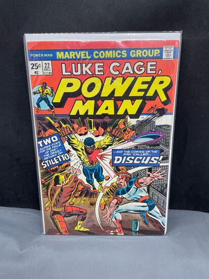 Vintage Marvel Comics LUKE CAGE POWER MAN #22 Bronze Age Comic Book from Estate