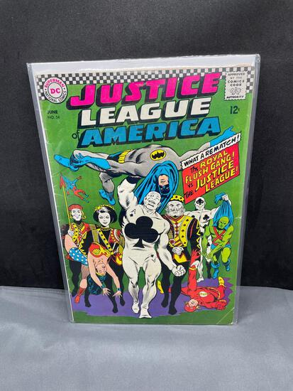 Vintage DC Comics JUSTICE LEAGUE OF AMERICA #54 Silver Age Comic Book from Estate