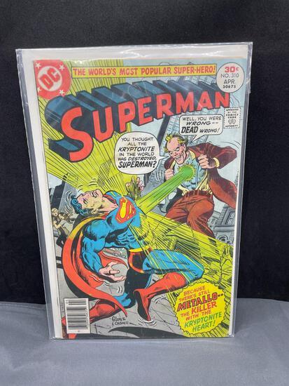 Vintage DC Comics SUPERMAN #310 BRONZE Age Comic Book from Estate