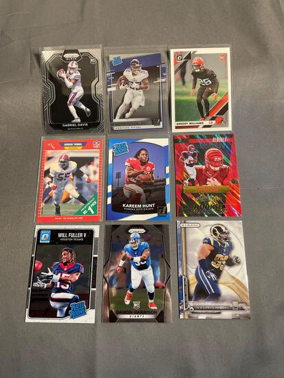 9 Card Lot of Footballl Rookie Cards - Mostly Newer Sets - HOT!