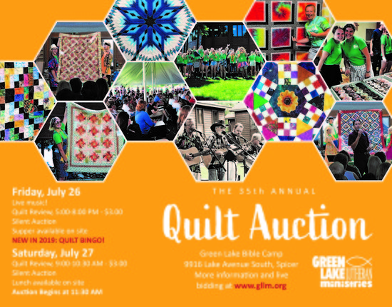 Quilt Auction Green Lake Lutheran Ministries 2019