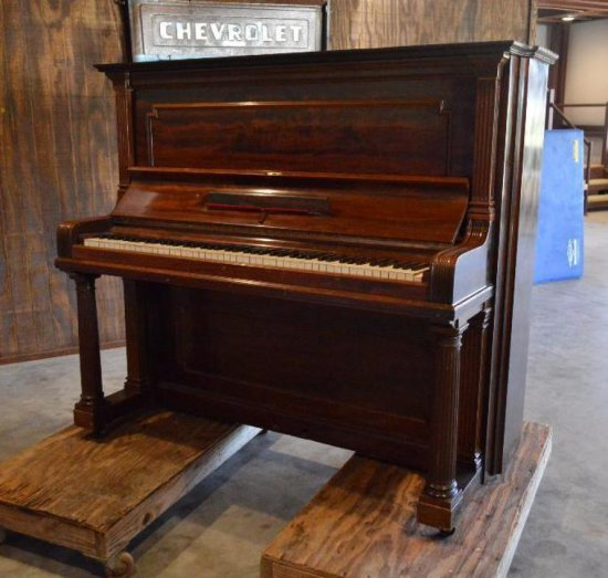 Antique 1900 Steinway Upright Grand Piano
