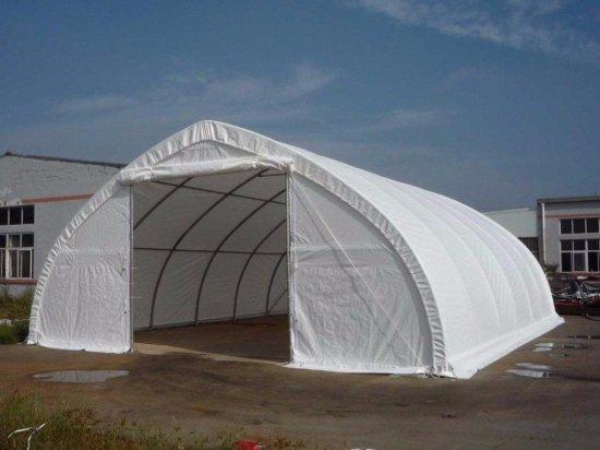 30 FT x 40 FT x 15 FT Peak Ceiling Double Door Storage Building C/W: commercial fabric, waterproof,