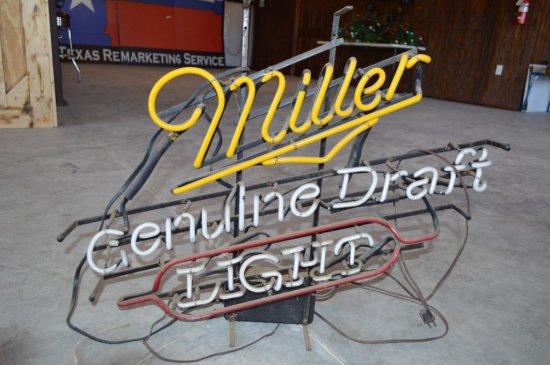 Miller Light Antique Neon Sign