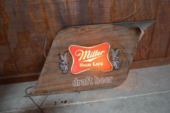 Plug-In Miller Light Sign