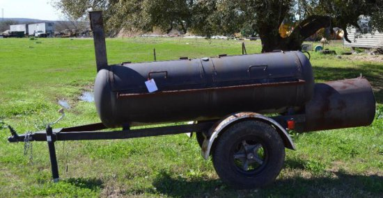8 ft Pit/Grill built on Trailer with tires