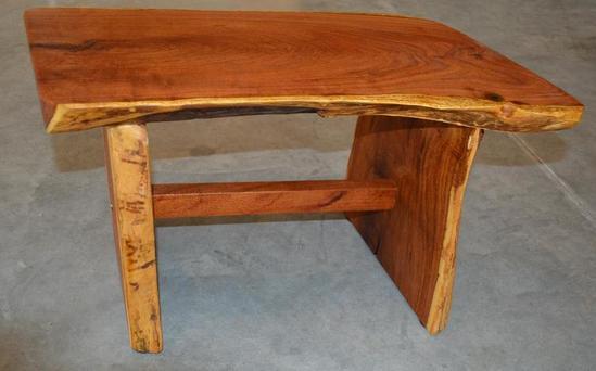 Small Handmade Mesquite Bench