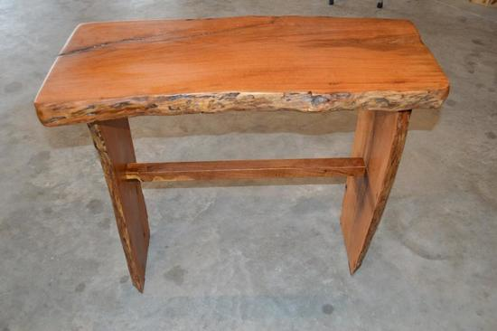 """Handmade Mesquite Entry Table w/ 2"""" Top"""