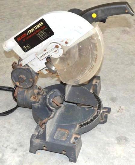 """Craftsman 10"""" Compound Miter Saw 3HP"""