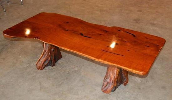 Handmade Mesquite Bench/Table w/ Cypress Legs