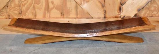 Handcrafted Wine Barrel Oak Centerpiece