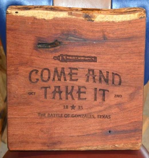 """Mesquite """"Come and Take It"""" Cutting Board"""