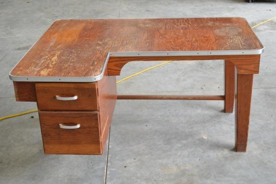 1 Youth Wood Desk w/2 Drawers