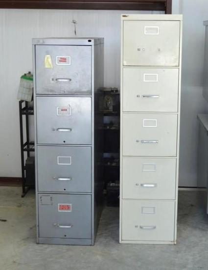 2 - 4 Drawer Letter Size File Cabinets