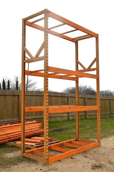 Assembled Section of 12' x 8' Industrial Shelving