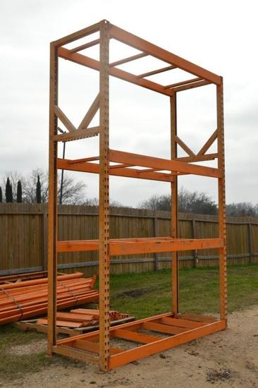 Un-assembled Section of 12' x 8' Industrial Shelving