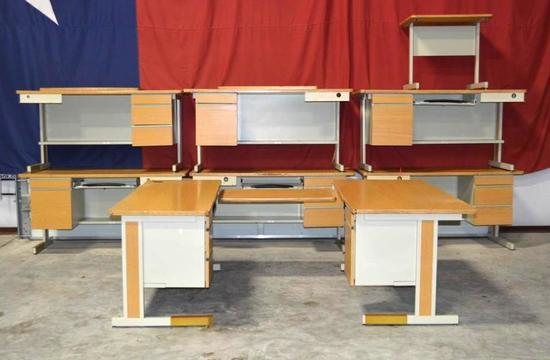 3-Piece Office Desks (4 Desk total for a total of 12 pieces)