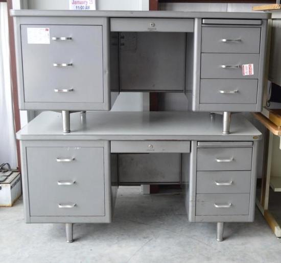 Metal Office Desks (set of 2)
