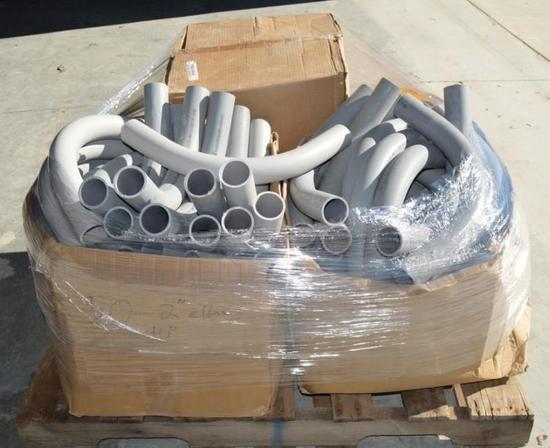 "Pallet of Electrical 2"" sch 40 PVC/2"" Elbows/2"" Adaptors"
