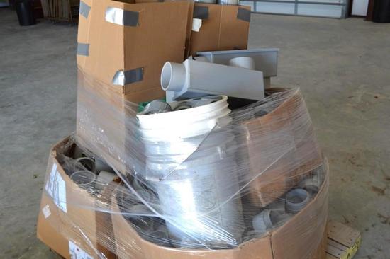 "Pallet of Electrical PVC/3"" and 4"" Couplings/Bells/Adaptors"