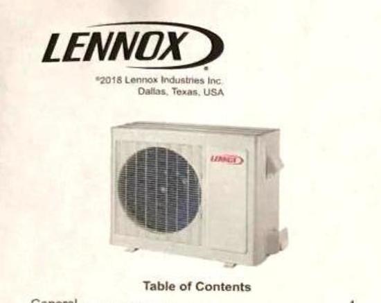 Lennox Mini-Split 3-Ton Heat Pump *New in Box*