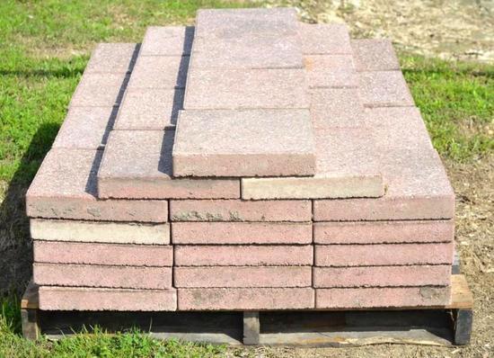 """Pallet of 72 - 12"""" x 12"""" brick stones"""