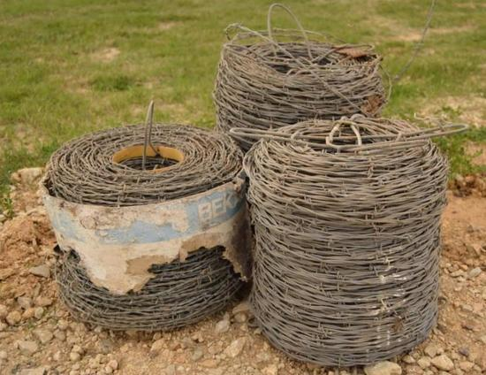 3- Rolls of Barbed Wire