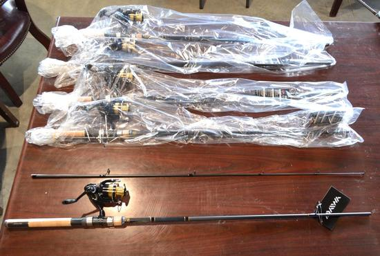 Dawa Shock Fishing Poles w/ Rods - All New - 5 Total in Lot