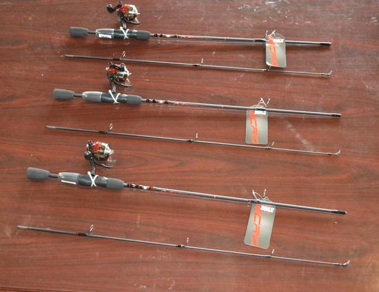 Zebco Fishing Poles - 3 Total in Lot