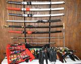 Collection of Assorted Knives and Swords