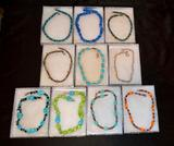 11 New Necklaces - Turquoise, Pearls, Silver, Jade, Amethyst, Onyx