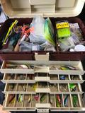 Fishing Tackle Box Filled with Lures