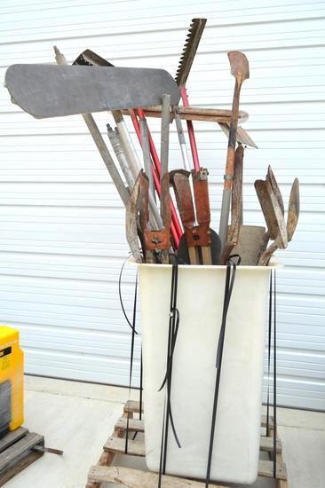 Container of Concrete Tools/Shovels