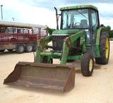 John Deere 6400 2WD Diesel Tractor w/ Cab & AC *Has minor Cylinder Leak* Runs Good