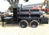 Custom built BBQ Pit/Smoker on trailer. Comes w/ lock and key