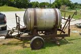 250 Gallon Stainless Sprayer on Small Bumper Pull Ball 2 Wheel Trailer