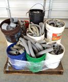 Pallet of Various Electrical PVC Fittings and Elbows